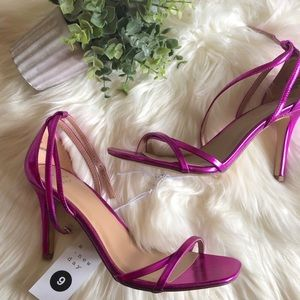 Target | Hot Pink Strappy Shiny Summer Heels
